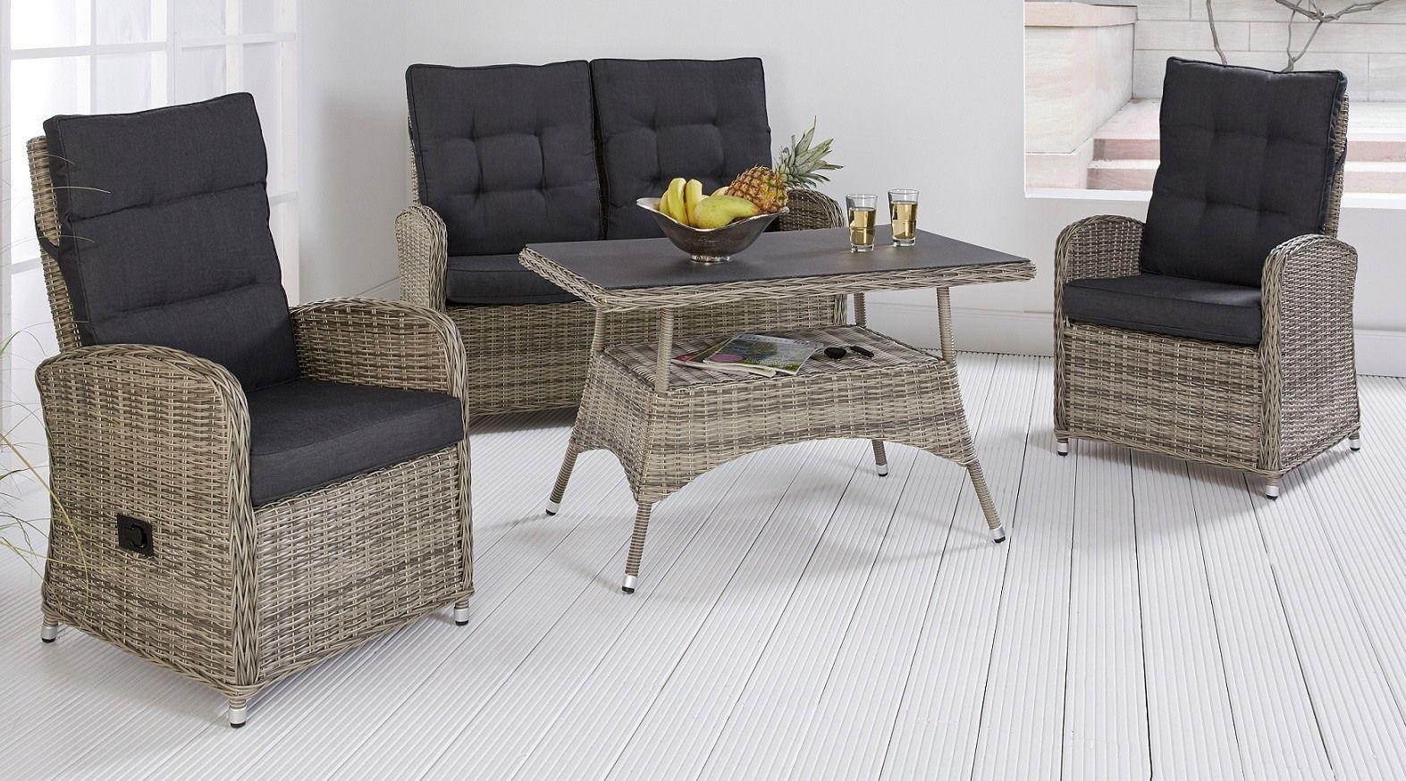 Lounge Gartenmobel Set Antigua Grau 12teilig Gartenmobel Set Loungemobel Polyrattan