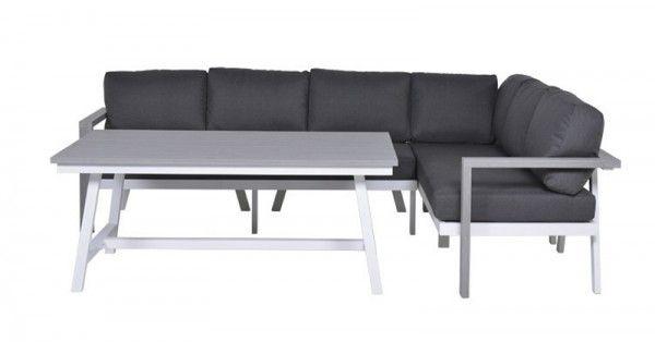 Lounge-Dining Set Morgana 3-teilig - Vironwood vintage grey/white ...