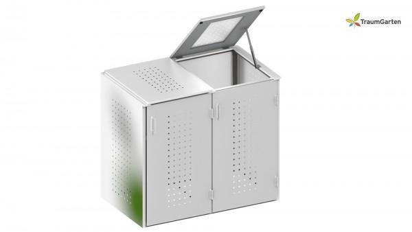 Binto 2er Mülltonnenbox mit Klappdeckel