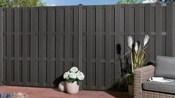 wpc sichtschutz zaun shanghai braun. Black Bedroom Furniture Sets. Home Design Ideas