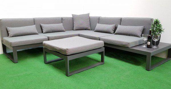 Gartenmobel Design Eck Dining Lounge 19tlg Alu Anthrazit