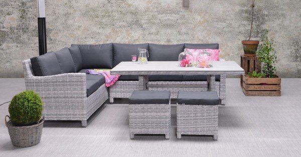 lounge dining set vancouver 5 teilig cloudy grey anthrazit. Black Bedroom Furniture Sets. Home Design Ideas