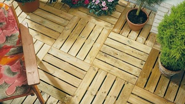 Holzfliese KDI 50x50cm