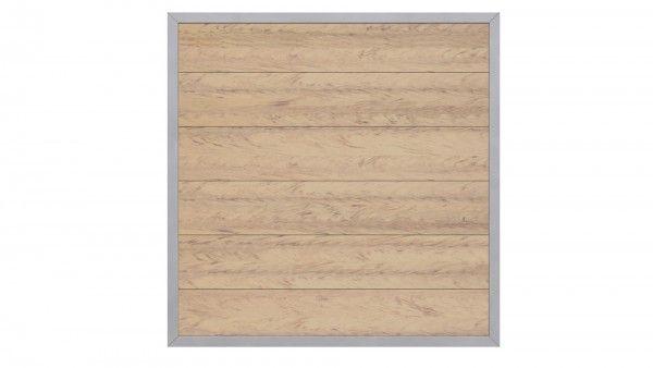 Sichtschutzzaun Design Wpc Aluminium 180 X 180 Sand