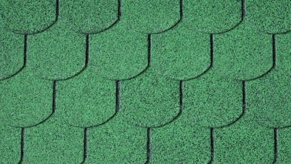 Bitumenschindeln Biberschwanzform Grün