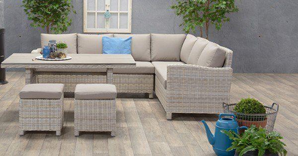 Lounge dining set vancouver 5 teilig rechts passion willow for Dinner lounge gartenmobel