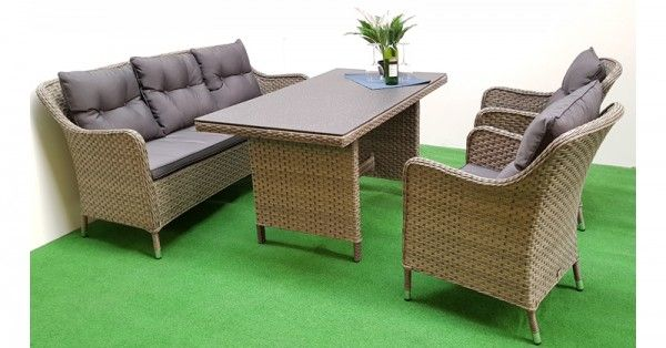 lounge set davos sitzgruppe polyrattan gartenm bel garnitur 12 teilig alu grau. Black Bedroom Furniture Sets. Home Design Ideas