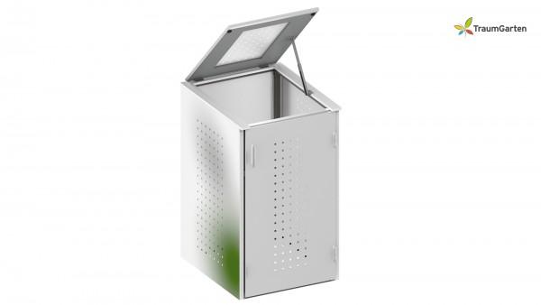 Binto 1er Mülltonnenbox mit Klappdeckel