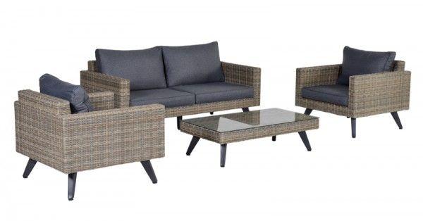 Lounge-Set Cotes 4-teilig - havanna sand/reflex black   Loungemöbel ...