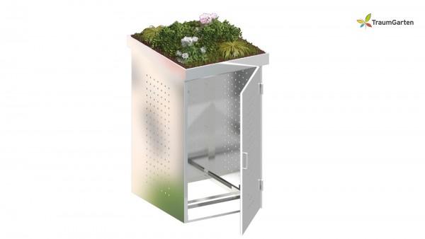 Binto 1er Mülltonnenbox mit Pflanzschale