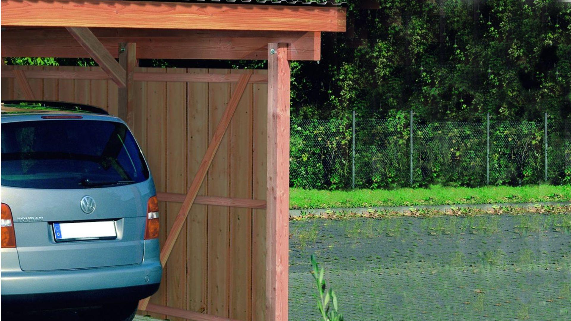 Pfosten f r r ckwand carport for Carport pfosten