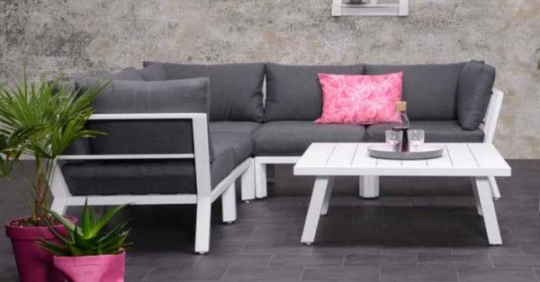 Lounge-Set Sasha 4-teilig - mat white/reflex black | Loungemöbel ...