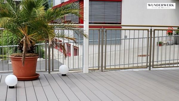 Wunderwerk Terrassendiele Cape Cod Grey 127mm breit in zwei Längen