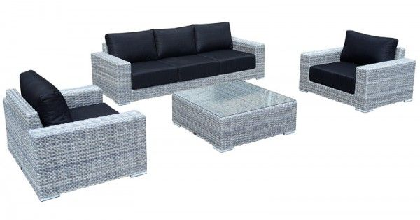 gartenm bel dining lounge wembley 14tlg polyrattan grau. Black Bedroom Furniture Sets. Home Design Ideas