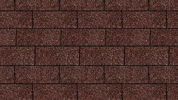 Bitumenschindeln Rechteckform Rot