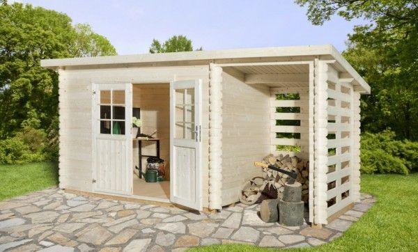 Anbau Blockhaus 190 x 292 cm 28 mm