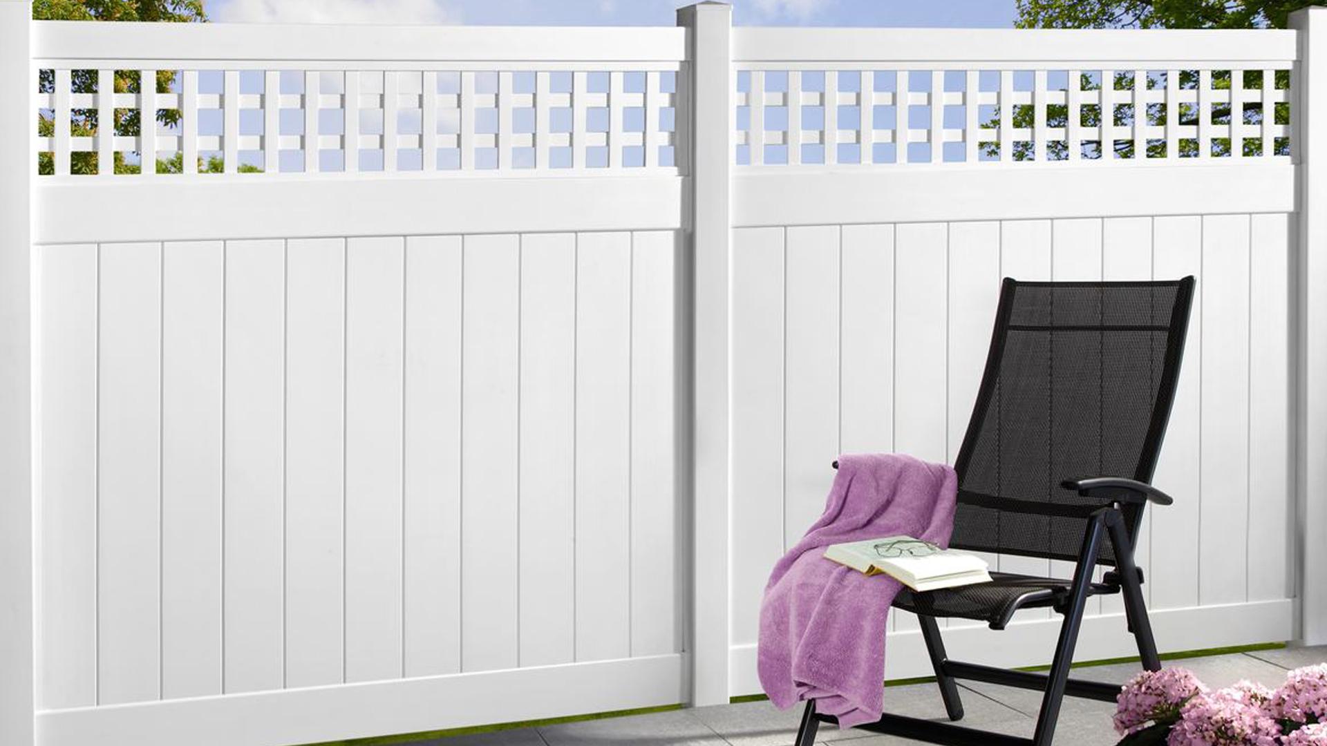angebote sichtschutzzaun zaun lamellenzaun kunststoff bei. Black Bedroom Furniture Sets. Home Design Ideas