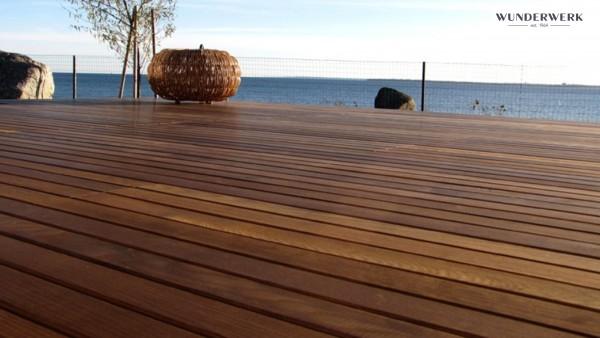 Wunderwerk Terrassendiele Thermo-Esche 132mm breit in drei Längen