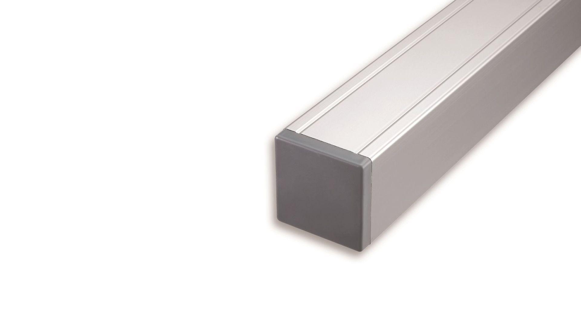 aluminium pfosten mit holzkern 185 cm