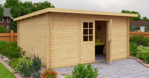 gartenhaus 400 x 400 cm 40mm blockhaus. Black Bedroom Furniture Sets. Home Design Ideas