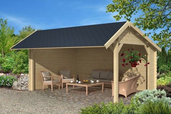 scheune aus holz 500 x 350 cm 45 mm gartenpavillons. Black Bedroom Furniture Sets. Home Design Ideas