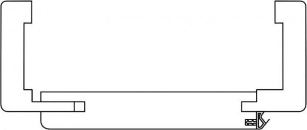 Prüm Zarge CPL Weißlack Rundkante