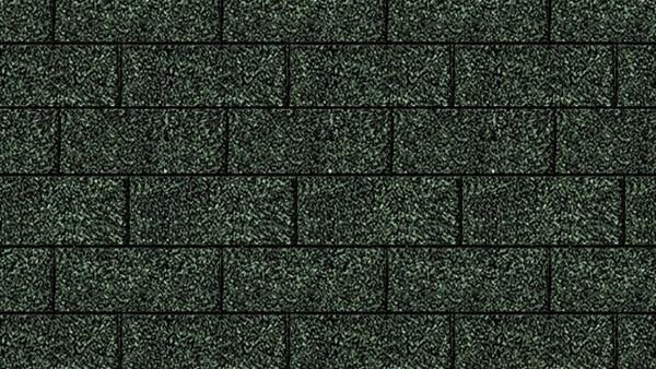 Bitumenschindeln Rechteckform Grün
