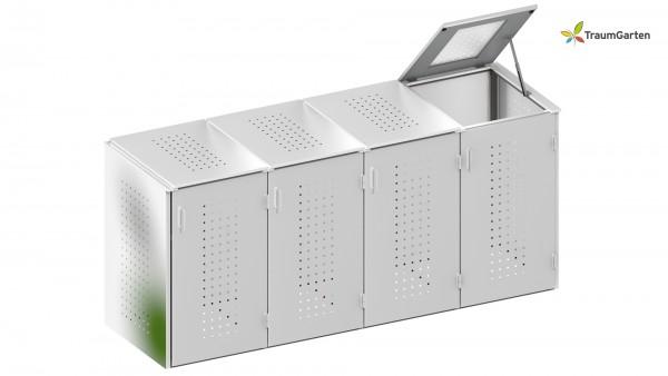Binto 4er Mülltonnenbox mit Klappdeckel
