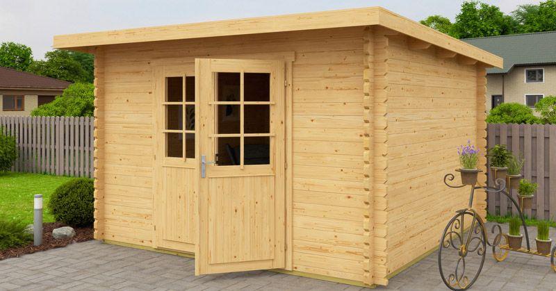 gartenhaus 300 x 300 cm 40mm blockhaus. Black Bedroom Furniture Sets. Home Design Ideas