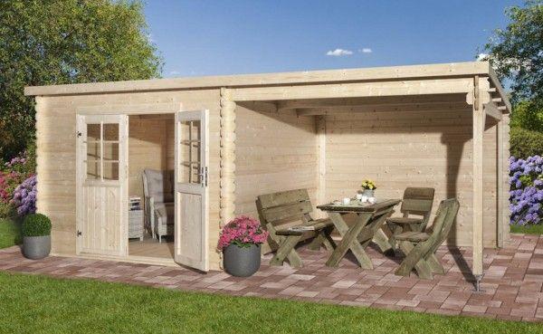 Anbau Blockhaus 290 x 292 cm 28 mm
