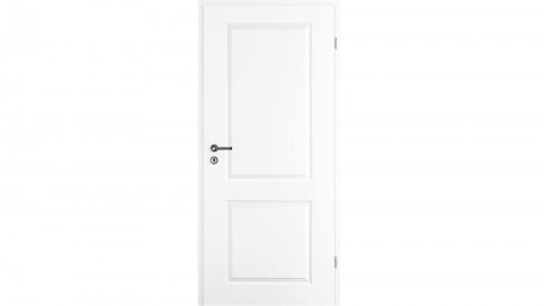 Zimmertür Weißlack RSP mit zwei Füllungen Eckkante