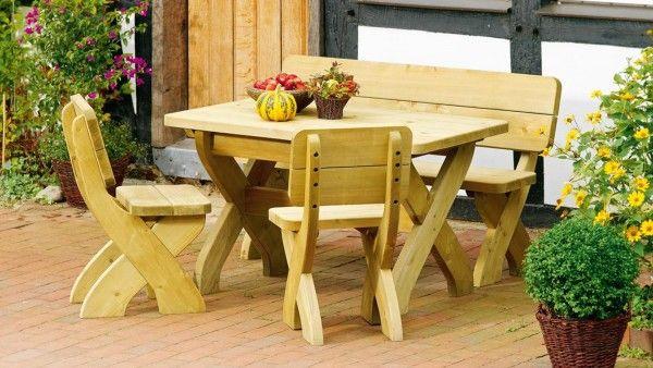 Gartenmöbel Sitzgarnitur aus Nadelholz