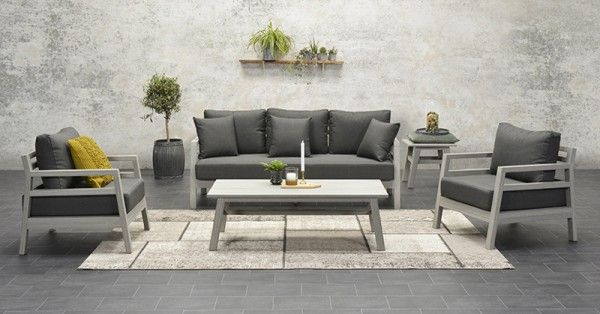 Lounge-Set Bali 4-teilig - Vironwood vintage grey/anthrazit ...