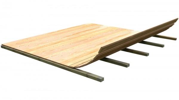 Holzfußboden für Gartenhaus Paket 8