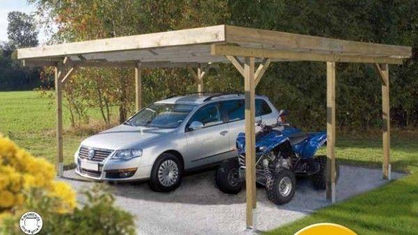 Doppelcarport 500 x 510cm mit PVC-Dachplatten