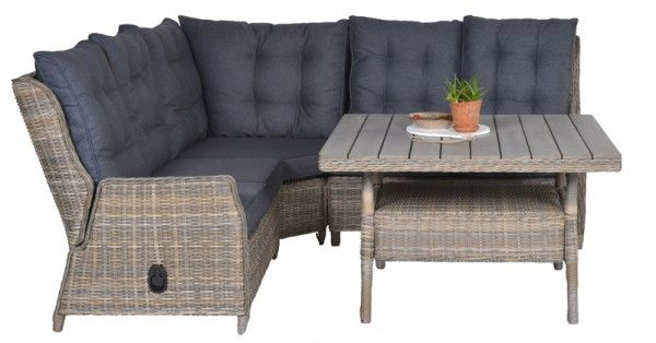 Lounge-Dining Set Dunham & Osborne 4-teilig - havanna sand/reflex black