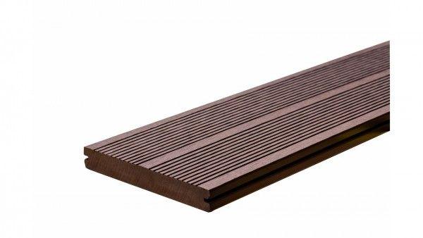 WPC Terrassendiele 19x140mm braun in 285cm lang Vollprofil massiv