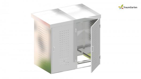Binto 2er Mülltonnenbox mit Pflanzschale