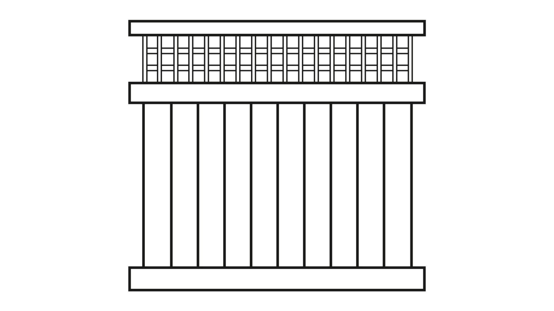 Sichtschutz Zaun Longlife Kunststoff Weiss Mit Rankgitter