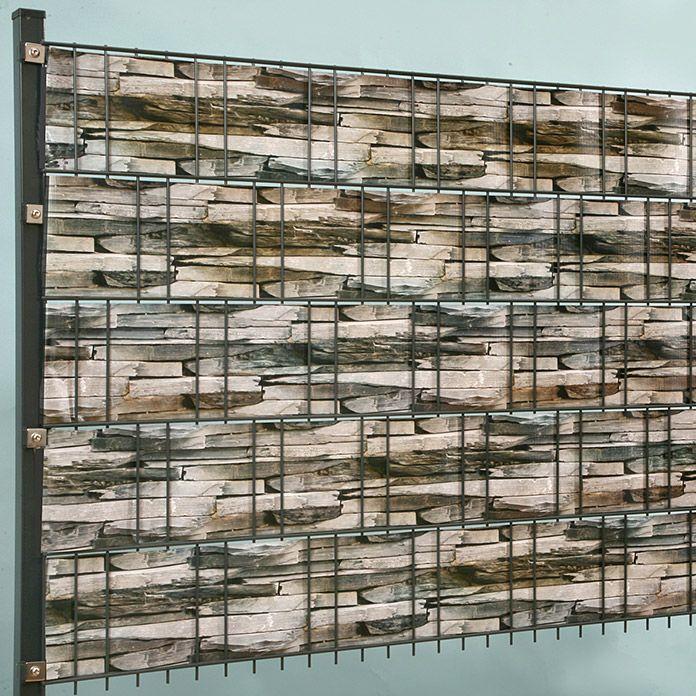 doppelstabmatte steindesign schmal 251x183cm inkl digitaldruck flechtstreifen. Black Bedroom Furniture Sets. Home Design Ideas