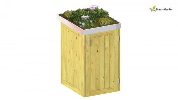 Binto 1er Mülltonnenbox Nadelholz mit Pflanzschale