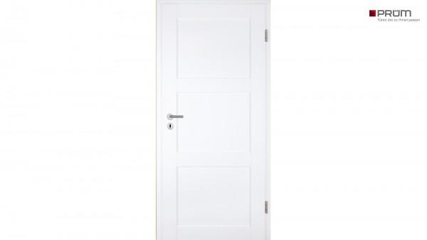 Prüm Zimmertür Stil Weißlack ST3 Rundkante
