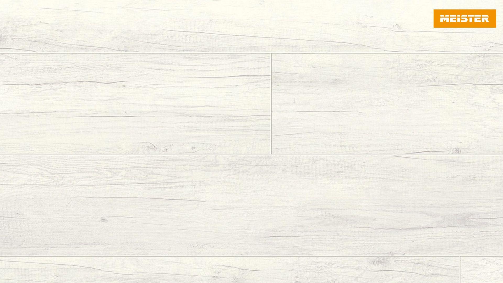 Bevorzugt Meister Laminatboden LD 95 Eiche weiß deckend 6536, Landhausdiele AV42